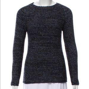 MAJE Paris Wool Blend Metallic Sweater
